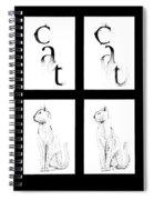 # 1 Cat Portrait. Spiral Notebook