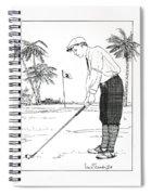 1920's Vintage Golfer Spiral Notebook