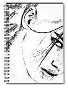 # 9 Adriana Lima Portrait. Spiral Notebook