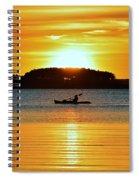 A Reason To Kayak - Summer Sunset Spiral Notebook