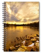 Androscoggin River Between Lewiston And Auburn Spiral Notebook