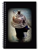 Antique Fire Hydrant - Blue Tones Spiral Notebook