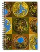 Autumn  Spheres Spiral Notebook