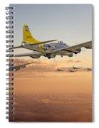 B17 - 486th Bg - Homeward Spiral Notebook