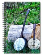 Banjos At The Woodpile Spiral Notebook