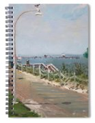 Beach Border Walk In Norfolk Va Spiral Notebook