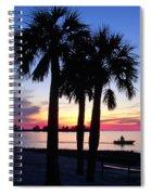 Beach Sunset Spiral Notebook