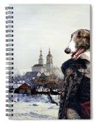 Borzoi - Russian Wolfhound Art Canvas Print Spiral Notebook