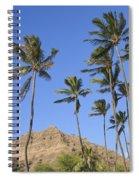 Tip Of Diamond Head Spiral Notebook