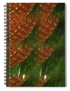 Brilliant Green Abstract 2 Spiral Notebook