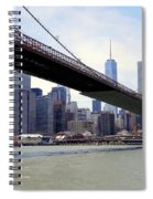 Nyc Skyline-brooklyn Bridge Spiral Notebook