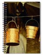 Buckets At Esfahan Market Spiral Notebook