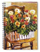Chair Of Flowers Spiral Notebook