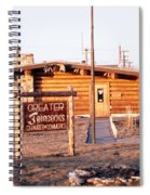 Chamber Of Commerce Log Cabin Fairbanks Alaska 1969 Spiral Notebook