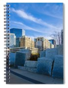 Charlotte Nc  View Of Charlotte Skyline  Spiral Notebook