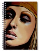 Christina Aguilera Painting Spiral Notebook
