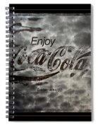 Coca Cola Sign Grungy Red Retro Style Spiral Notebook
