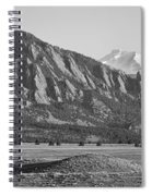 Colorado Rocky Mountains Flatirons With Snow Covered Twin Peaks Spiral Notebook