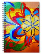 Colorful Tile Abstract Spiral Notebook