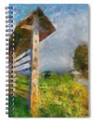 Country Road With Hayrack Spiral Notebook