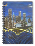 Crescent Over Pittsburgh  Spiral Notebook