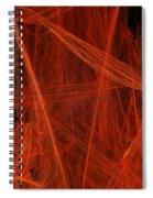 Dancing Flames 1 V - Panorama - Abstract - Fractal Art Spiral Notebook