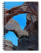 Double Arch - Arches National Park Spiral Notebook