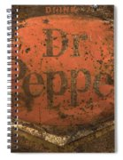 Dr Pepper Vintage Sign Spiral Notebook
