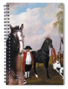 Drentse Patrijshond Art Canvas Print - The Prince Of Waless Phaeton  Spiral Notebook