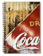 Drink Coca Cola  Memorbelia Spiral Notebook