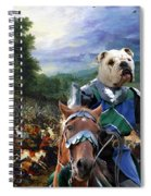 English Bulldog Art Canvas Print - The Brave Ricer Spiral Notebook