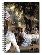 English Mastiff  - Mastiff Art Canvas Print - The Garden Party Spiral Notebook