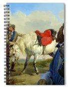 English Springer Spaniel Art Canvas Print Spiral Notebook