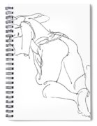 Erotic-line-drawings-23 Spiral Notebook