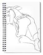 Erotic-line-drawings-23 Spiral Notebook