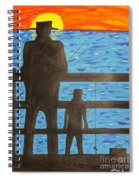 Father And Son Fishing Spiral Notebook