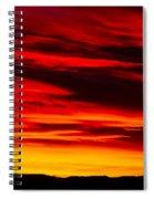 Fiery Furnace Sunset Spiral Notebook