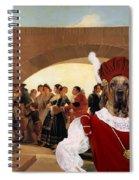 Fila Brasileiro Art Canvas Print - La Noce Spiral Notebook