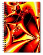 Flaming Red Flowers Spiral Notebook