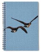 Fleeing Geese Spiral Notebook