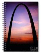 Gateway Arch Sunrise Spiral Notebook