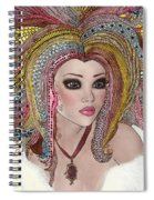 Girl With The Rainbow Hair Spiral Notebook