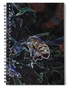 Glowing Bee  Spiral Notebook