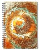 Golden Splash Spiral Notebook