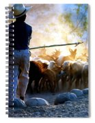 Herder Going Home In Mexico Spiral Notebook