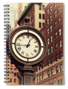 Historic Clock Of The Fifth Avenue Spiral Notebook