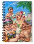 Humorous Snowbirds On Vacation - Senior  Citizen Citizens - Beach - Illustration  Spiral Notebook