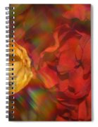 Impressionistic Bouquet Of Red Flowers Spiral Notebook