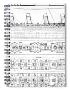 Inquiry Into The Loss Of The Titanic Cross Sections Of The Ship  Spiral Notebook