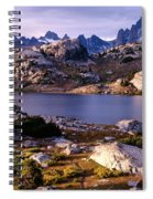 Island Lake And Wind River Range Spiral Notebook